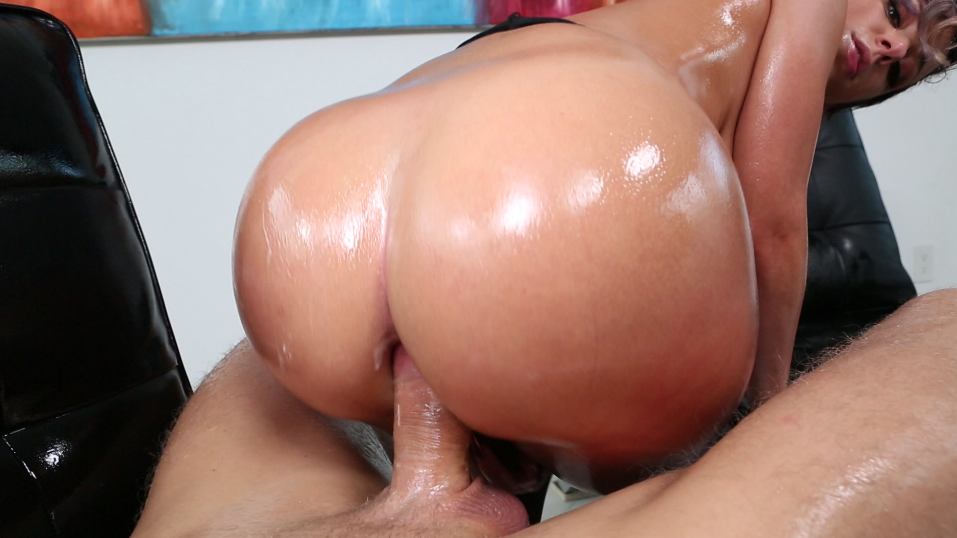 Wet ass anal video, licking chubby ass