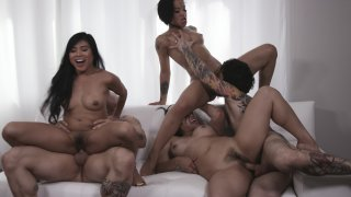 Streaming porn video still #16 from Asian Orgy