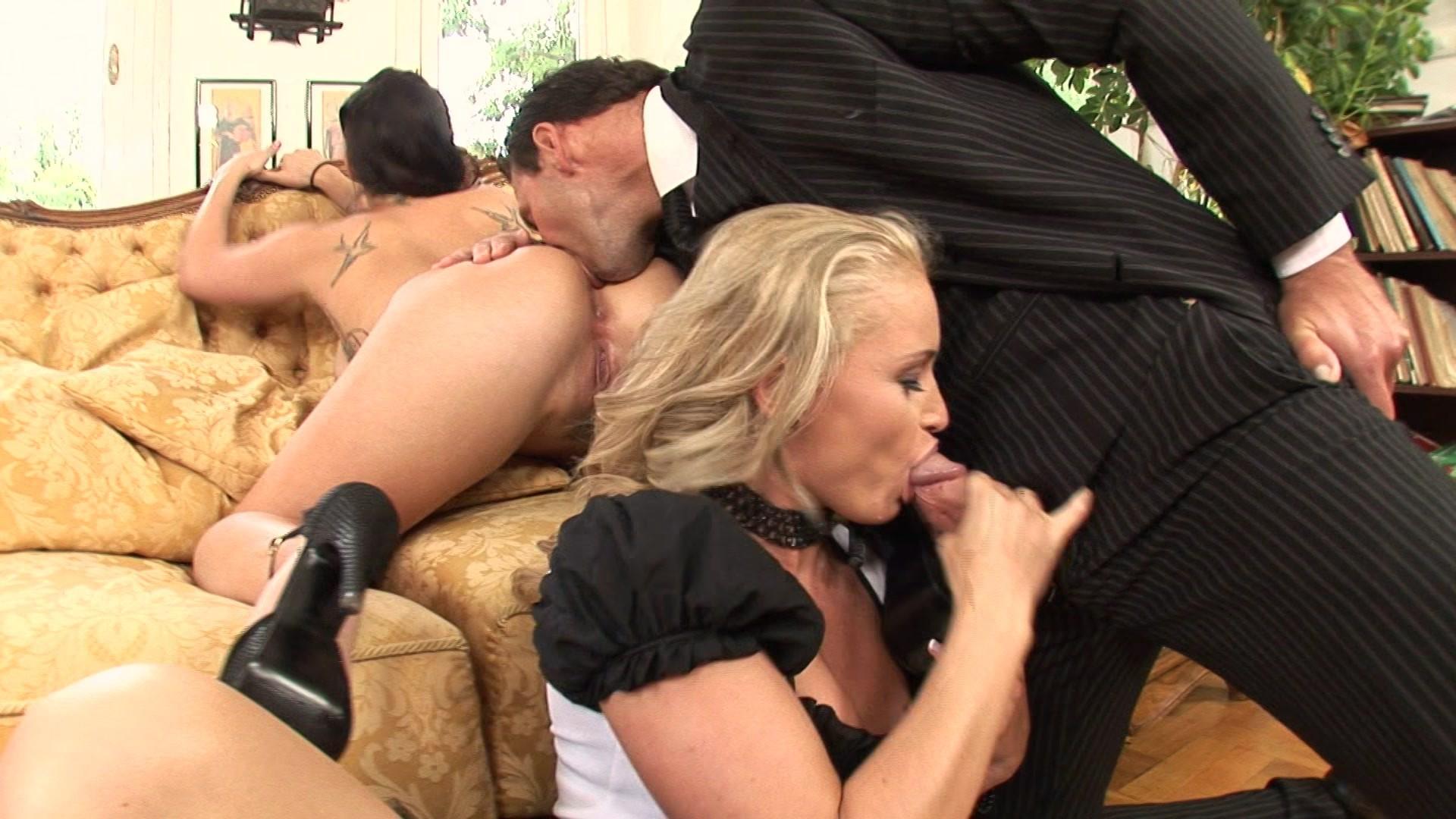 threesome couple maid
