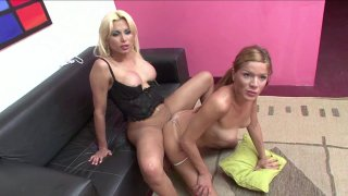 Streaming porn video still #7 from Transsexual Lesbians 7